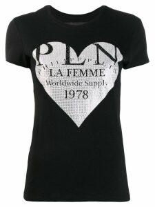 Philipp Plein studded heart T-shirt - Black