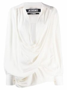 Jacquemus Portofino draped blouse - White