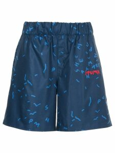 Puma elasticated waist shorts - Blue