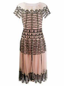 Temperley London Clio embellished midi dress - Black
