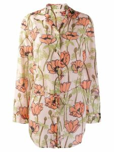 Tory Burch Pink Poppies blouse