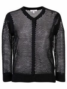 Dorothee Schumacher knitted mesh cardigan - Black