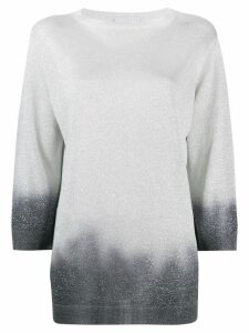 Fabiana Filippi degradé-effect jumper - Grey