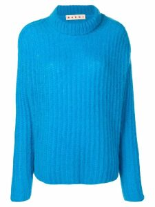 Marni ribbed chunky knit jumper - Blue