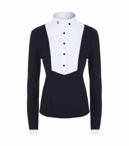 Pleated Bib Long Sleeve Shirt