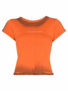 Eckhaus Latta Lapped logo print T-shirt - ORANGE