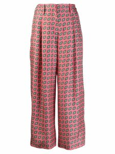 Etro diamond pattern cropped trousers - Pink