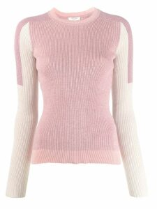Rag & Bone Tia contrast panel sweater - PINK