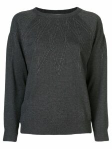 Brunello Cucinelli gold-tone embroidered jumper - Grey