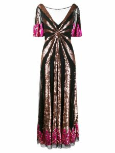 Temperley London Sycamore sequinned gown - Black