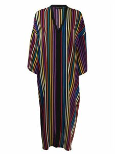 Etro vertical stripe print dress - Black