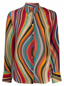 PS Paul Smith wave pattern shirt - Red