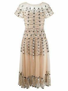 Temperley London Clio embellished midi dress - NEUTRALS