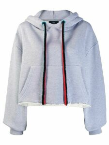 Alanui embroidered map hoodie - Grey