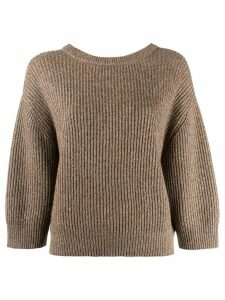 Brunello Cucinelli lurex knitted sweater - Brown