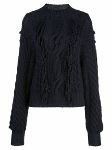Carolina Herrera cable-knit jumper - Blue
