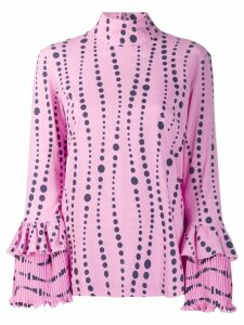 La Doublej frill cuff blouse - PINK