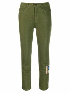Mr & Mrs Italy embroidered skinny trousers - Green