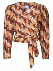 Lhd abstract wrap top - Brown