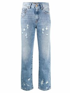 Don't Cry cropped distressed jeans - Blue