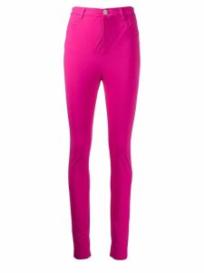 Attico skinny high-waisted trousers - Pink