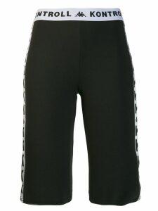 Kappa Kontroll logo tape shorts - Black