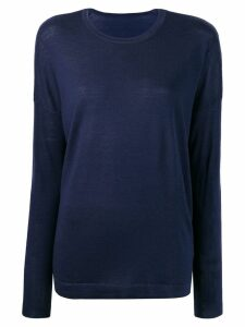 Sottomettimi long-sleeve fitted sweater - Blue