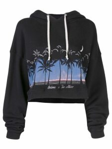 Attico cropped hoodie - Black