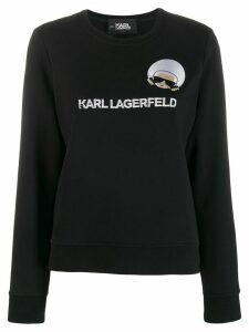 Karl Lagerfeld K/Ikonik embroidered sweatshirt - Black