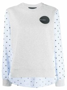 Karl Lagerfeld Karl Dots sweatshirt - Grey