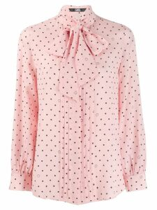 Karl Lagerfeld pussy bow dotted shirt - PINK