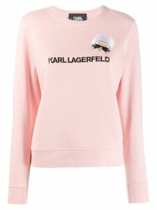 Karl Lagerfeld K/Ikonik embroidered sweatshirt - PINK