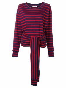 Sonia Rykiel tie waist jumper - Blue