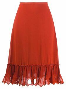 See by Chloé embellished hem skirt - ORANGE