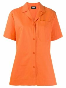 Kwaidan Editions poplin uniform shirt - ORANGE