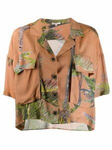 Natasha Zinko tropical loose blouse - Neutrals
