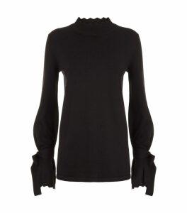 Iris Scalloped Trim Sweater