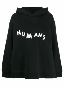Mm6 Maison Margiela Humans hoodie - Black