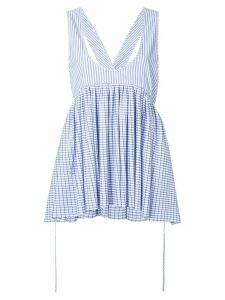 Henrik Vibskov low neck striped top - Blue