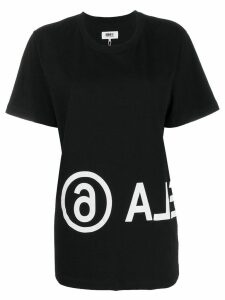 Mm6 Maison Margiela logo print T-shirt - Black