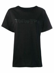 Philipp Plein rhinestone logo T-shirt - Black