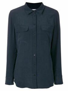 Equipment button pocket shirt - Blue