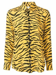 Saint Laurent zebra print shirt - Yellow
