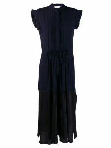 Chloé contrast panel midi dress - Blue