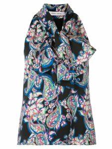 Prabal Gurung sleeveless paisley blouse - Black