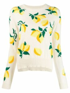 Chinti and Parker lemon print sweater - NEUTRALS