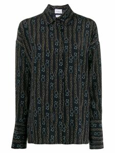 Salvatore Ferragamo chain print shirt - Blue