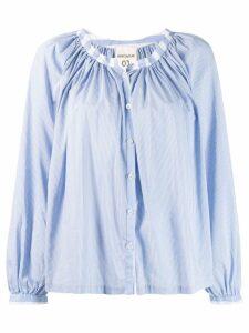 Semicouture striped collar shirt - Blue