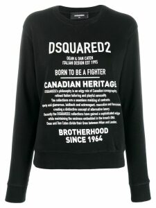 Dsquared2 Brand Description print sweatshirt - Black