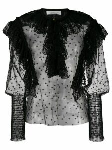 Philosophy Di Lorenzo Serafini ruffled sheer blouse - Black